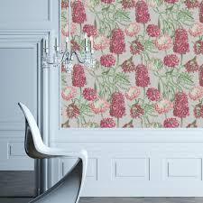 self adhesive wall paper hydrangea self adhesive wallpaper in blush design by tempaper