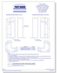 Overhead Door Track Door Protection Post Guard Caddetails