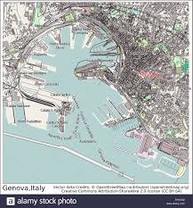 Map Of Genoa Italy by Genoa Italy City Map Stock Vector Art U0026 Illustration Vector Image