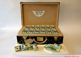 briefcase money cake birthday cakes