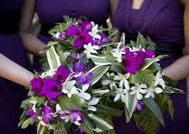 purple bouquets unique bridesmaids bouquets in purple white and green bouquet