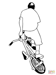 bmx colouring pages happy for coloring