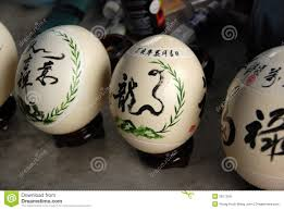 painted ostrich eggs ostrich painting stock images image 18494654