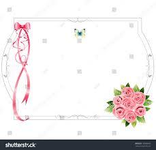 frame pink roses lower right corner stock illustration 169988060