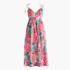spaghetti strap dress in ratti painted pineapple women dresses