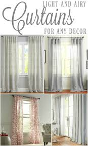 Curtains For A Room Light And Airy Curtains For Any Decor I Am A Homemaker