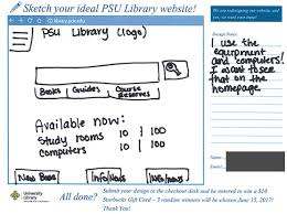 library website sketch a thon portland state university library