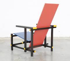 chaise rietveld chaise et bleue par gerrit rietveld pour cassina 1970s en