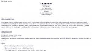 Bartender Job Description For Resume by Bartender Resume Samples And Tips