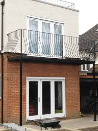 roof terrace railings and juliette style balcony installation in