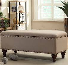 Fabric Bench For Bedroom Amazing Storage Ottoman For Bedroom Awesome Bed Ottoman Bench