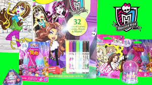 monster high crayola coloring trolls barbie pet crystal surprise