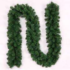 2 7m garland green rattan ornaments