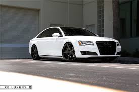 audi s8 matte black audi a8 white xo miami matte black 22in 8 xo luxury wheels