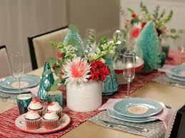 beautiful white glass wood modern design christmas table setting
