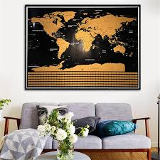 World Map Framed Deluxe Scratch Off World Map U2013 Explore And Snap