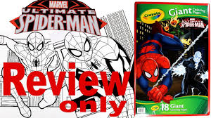 full coloring pages review spider man crayola giant coloring