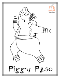 hippo hula coloring pages sing a story