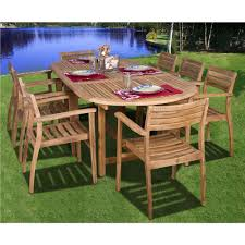 Coventry Dining Table Amazonia Coventry 9 Teak Patio Dining Set Sc Dian Oval Ninia