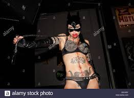 woman at halloween in whisky go go sunset strip hollywood los