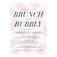bridal shower invitations brunch stylish brunch and bubbly bridal shower invitation ladyprints