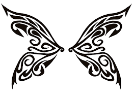 45 tribal butterfly designs