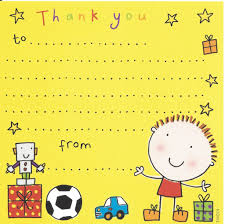 birthday thank you notes thank you notes for kids thank you cards for children kids thank