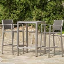 Bar Height Patio Table And Chairs Bar Height Patio Sets Wayfair