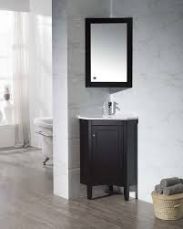 stufurhome monte espresso 25 inch corner bathroom vanity with