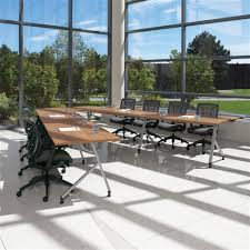 Custom Boardroom Tables Shared Leg Junction Training And Boardroom Table Configuration By