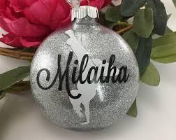 glitter ornaments etsy