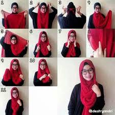 tutorial hijab resmi fienews