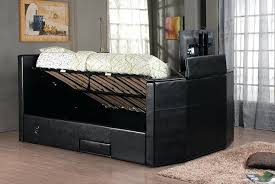 Tv Storage Bed Frame Tv Storage Bed Frame Bed With Built In Sound System Or King