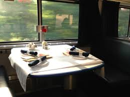 how to score a great meal on a train amtrak blog amtrak dining car