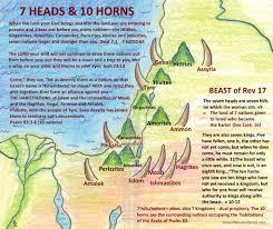 7 Kingdoms Map Simple Interpretation Of Beast With 7 Heads U0026 10 Horns