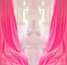 Pink Velvet Curtains Shabby White Velvet Or Pink Velvet Chic Drapes