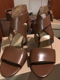 michael kors dark brown sandals mercari buy u0026 sell things you love