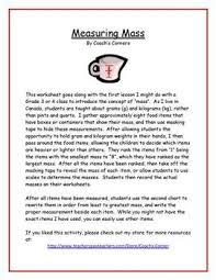 measuring mass worksheet metric units tpt free lessons