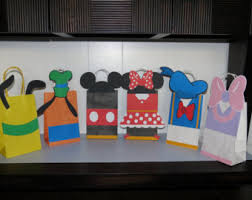 mickey mouse gift bags mickey goodie bags etsy