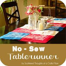 Kitchen Table Runners by No Sew Table Runner Scattered Thoughts Of A Crafty Mom By Jamie