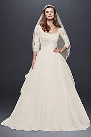 wedding gowns with sleeves sleeve wedding dresses gowns david s bridal