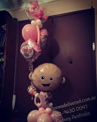 balloon delivery sydney new baby girl bouquet baby girl babyballoons balloons