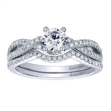wedding rings cross images Gabriel co bridal set diamond criss cross engagement ring and jpg