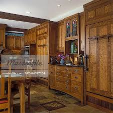 craftsman style flooring kitchens custom craftsman style white oak cabinets hide fridge
