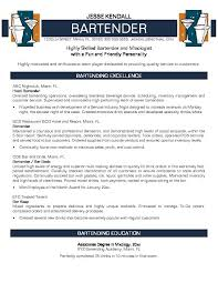 Customer Service Resume Objective Examples by Excellent Bartender Resume Objective Examples 86 For Your Resume