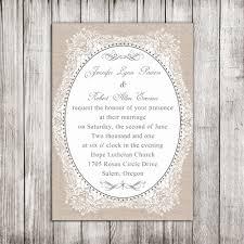 Vintage Lace Wedding Invitations Elegant Burlap Printed Vintage Floral Wedding Invitations Ewi268