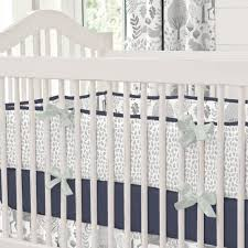 Mini Crib Bedding Set Boys by Navy And Gray Woodland Crib Bedding Carousel Designs