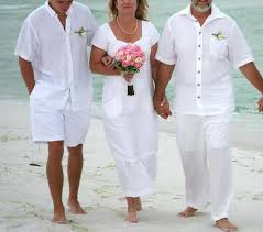 beachwear white linen casual mid length wedding calibama