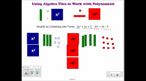 using algebra tiles to combine like terms add and subtract