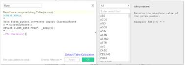 currency converter python howto add live currency coversion to tableau dashboardsdataboss